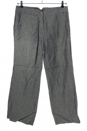 Max Mara Jersey Pants light grey striped pattern casual look