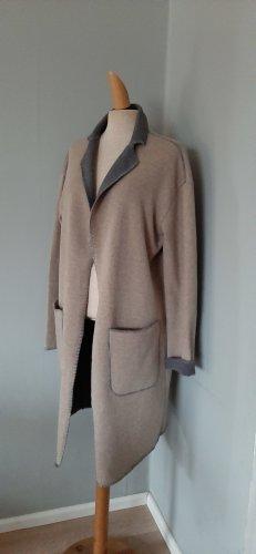 MAX MARA strickmantel coat taupe beige grau wolle gr.38/M