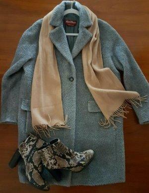 MAX MARA STUDIO Mantel Belle Pako  Wolle  Teddy Coat grau Gr.38