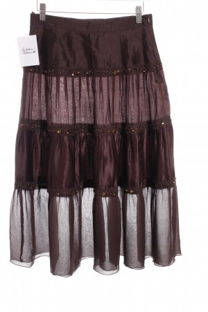 Max Mara Broomstick Skirt brown Sequin ornaments