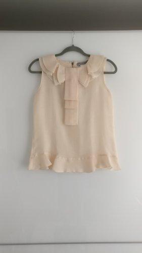Sportmax Top spalle scoperte crema-rosa pallido