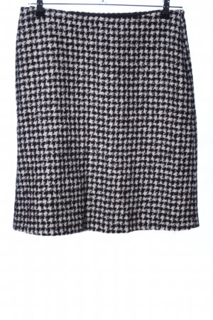 Max Mara Jupe en tweed noir-blanc imprimé allover style d'affaires