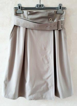 Max Mara Short taille haute gris clair-beige