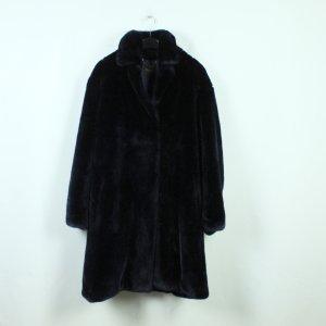 Weekend Max Mara Fake Fur Coat dark blue mixture fibre
