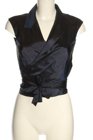 Max Mara Wikkelblouse zwart zakelijke stijl