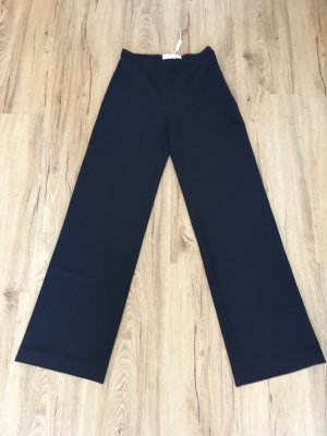 Max Mara Pantalón de lana azul oscuro