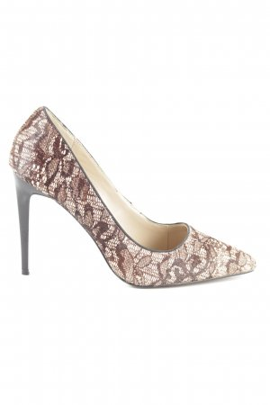 MAX Spitz-Pumps braun-creme abstraktes Muster Business-Look