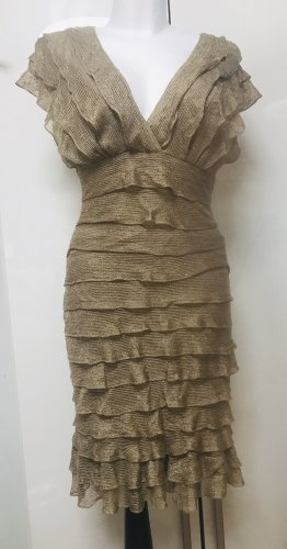Max Studio Damen Ruffle Kleid Gold L