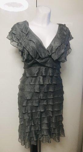 Max Studio Damen Ruffle Kleid Silber L