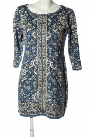 Max Studio Shirtkleid blau-hellgrau Allover-Druck Casual-Look