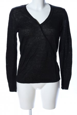Max Studio V-Ausschnitt-Pullover schwarz Casual-Look