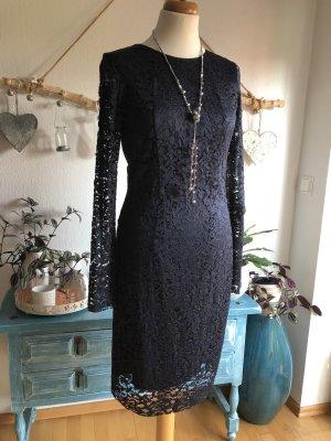 Max Volmáry Lace Dress dark blue