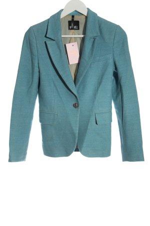 MAX WELL Blazer en maille tricotée bleu style d'affaires