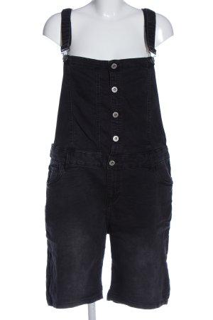 maxi blue. Peto negro look casual