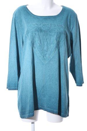 maxi blue. Longsleeve blau Farbverlauf Casual-Look
