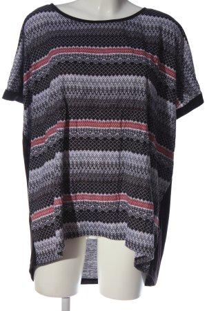 maxi blue. Print-Shirt abstraktes Muster Casual-Look
