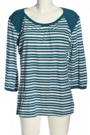 maxi blue. Ringelshirt blau-weiß Streifenmuster Casual-Look
