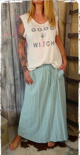 Maxi Skirt white-mint cotton