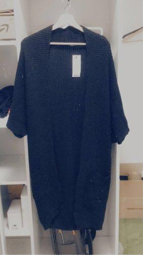 Boohoo Coarse Knitted Jacket black