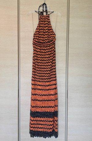 Missoni Vestido largo naranja-negro