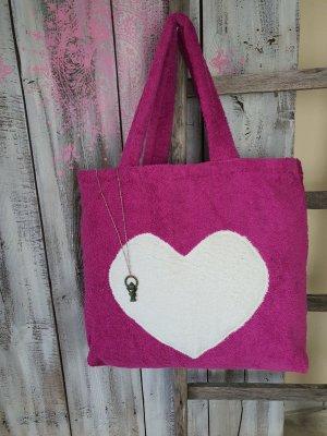 Borsellino rosa-magenta Cotone