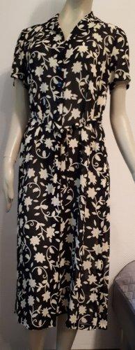MAXI Hemdblusenkleid hochsommerlich, schwarz/beige Gr. 36/38