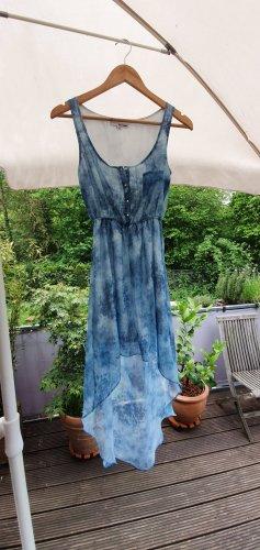 Maxi Hippie Boho Bohemien Strand - Kleid Bohokleid Maxikleid Bohemienkleid blau MIT KETTE Must Have!