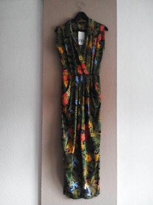 Maxi Jumpsuit mit tropischem Muster, Grösse S, neu