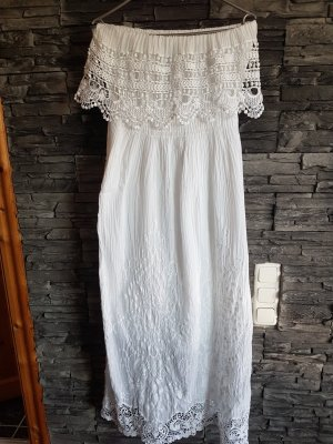 Maxi-jurk wit
