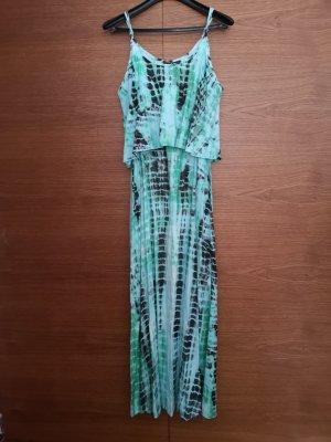 Vestido largo turquesa-verde claro