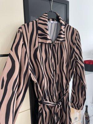 Hailys Maxi abito bronzo-bianco sporco