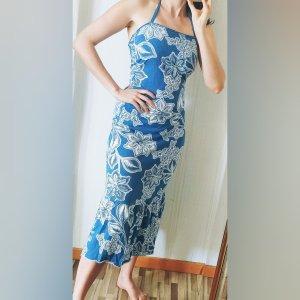 maxi Kleid Blumen Muster mesh y2k 90er süß bequem stretch