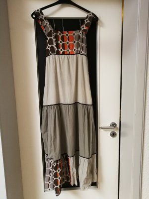 Maxi Dress grey-cognac-coloured