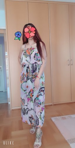 100% Fashion Chiffon jurk veelkleurig