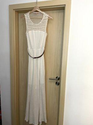 Only Sukienka maxi w kolorze białej wełny