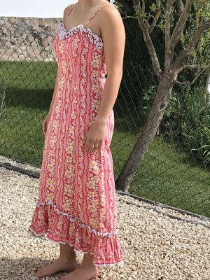 Conleys Maxi Dress raspberry-red cotton