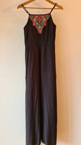 Maxi Kleid mit Neon Aufstickerei