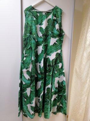 Maxi Kleid mit Palmen print