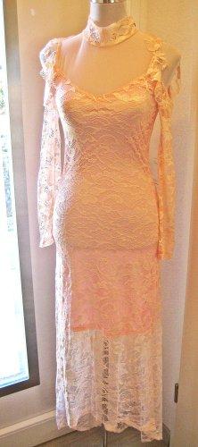 Voyelles Robe à manches longues rose clair-rosé