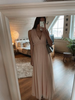 Maxi Kleid rosé mit Tüll NEU