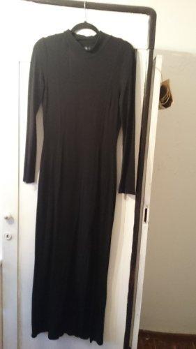 Claudia Schiffer Vestido de manga larga negro
