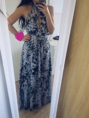 Maxi Kleid von H&M rückenfrei Neckholder schwarz weiß