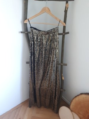 Boohoo Sequin Dress black-gold-colored