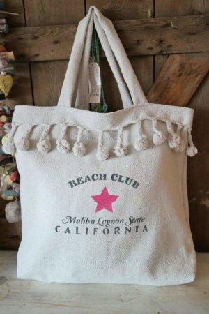 Canvas Bag natural white-pink cotton
