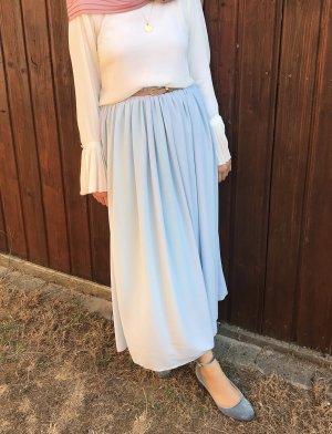 Jupe longue bleu clair-bleu azur