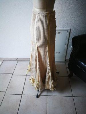 Asymetryczna spódniczka piaskowy brąz-nude
