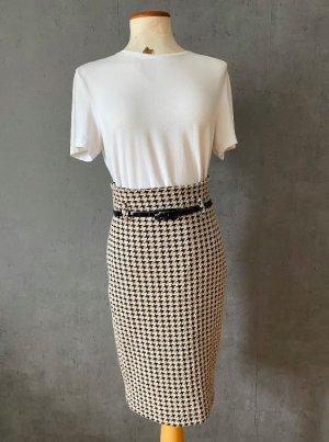 Ana Alcazar Jupe taille haute brun-beige acrylique