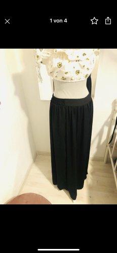 Mango Falda larga negro