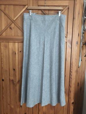 Falda de lino gris claro-color plata