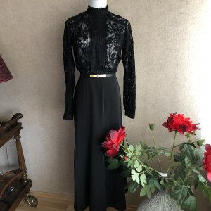 Maxi Rock in schwarz vintage